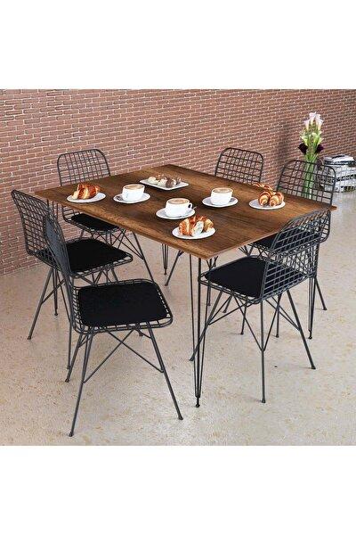 Barok Masa Takımı, 130x70cm, 6 Sandalyeli
