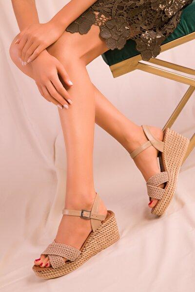 Vizon Kadın Dolgu Topuklu Ayakkabı 15850