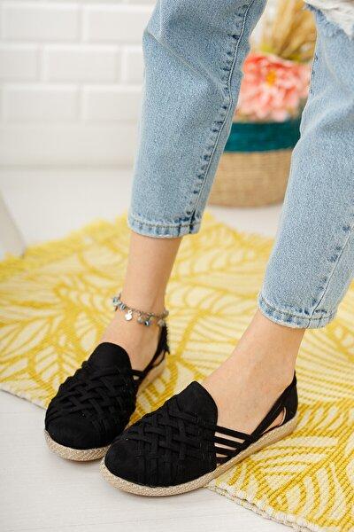 Kadın Siyah Örgü Günlük Ayakkabı