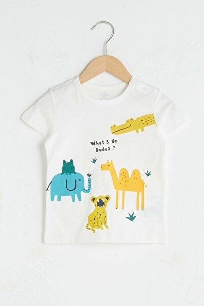 Erkek Bebek Ekru Eew T-Shirt
