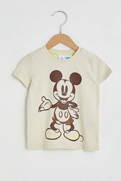 Mickey Mouse Erkek Bebek Açık Bej Fwm T-Shirt