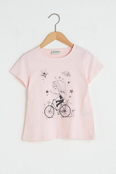 Kız Çocuk Açık Pembe Fsa T-Shirt