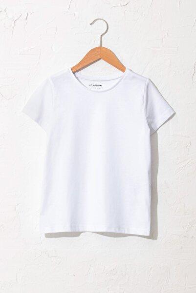 Kız Çocuk Optik Beyaz R9K T-Shirt