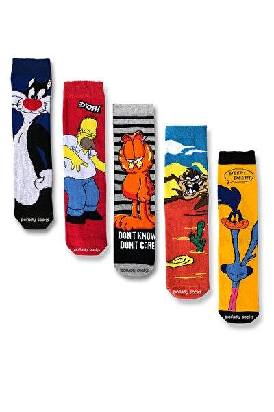Trend Çizgi Film Karakterleri 2 Çorap Seti