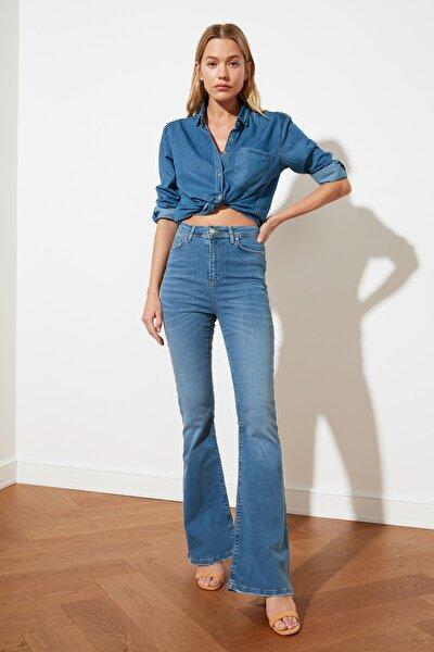 Mavi İncelten Etki Yüksek Bel Flare Jeans TWOSS20JE0222