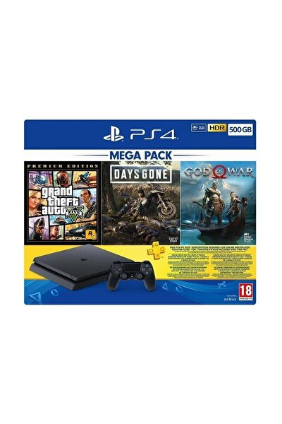 Playstation 4 Slim 500 Gb + Gta V + Days Gone + God Of War + Psn (eurasia Garantili)