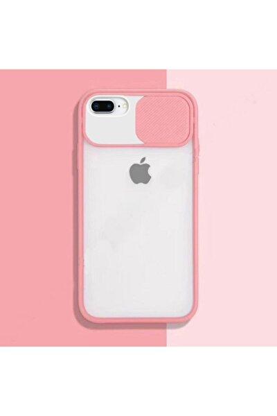 Iphone 7 Plus - 8 Plus Kılıf Sürgülü Kamera Korumalı Silikon
