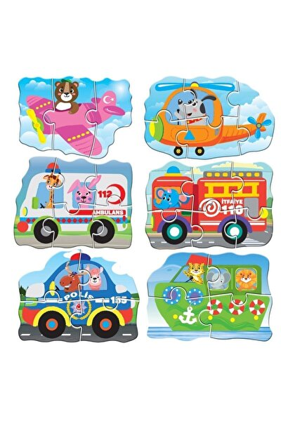 Circle Toys Baby Puzzle Araçlar