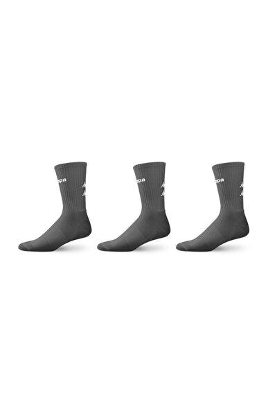 Erkek Gri Havlu Çorap 3'lü