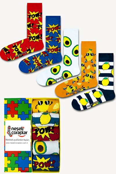 5'li Colored Legend Renkli Çorap Set