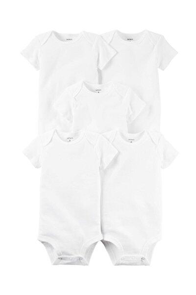 Layette Bebek 5'li Beyaz Body - Ss