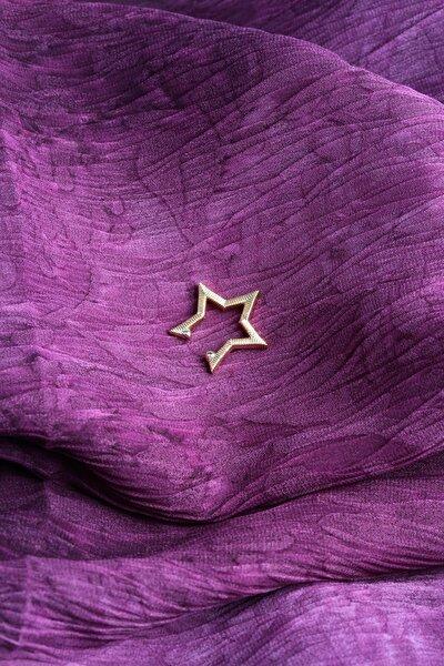 Kadın Altın Rengi Yıldız Kıkırdak Küpe