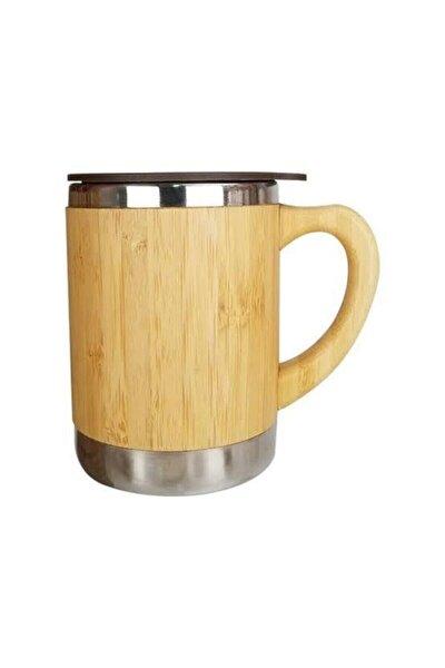 Bambu Sızdırmaz Kapaklı Kupa Bardak Termos Çay Kahve Termosu