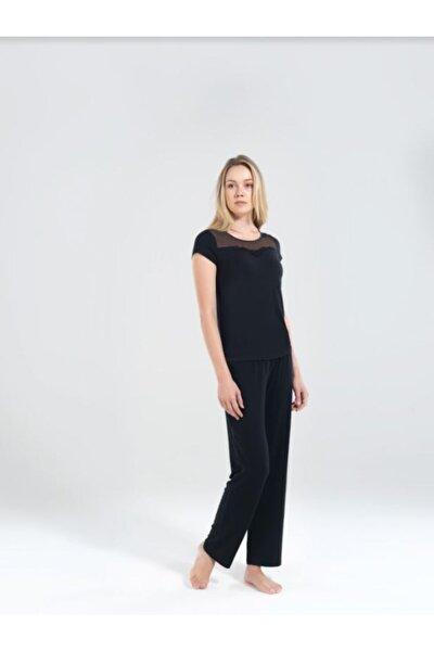 Kadın Pijama Takımı 50163-siyah