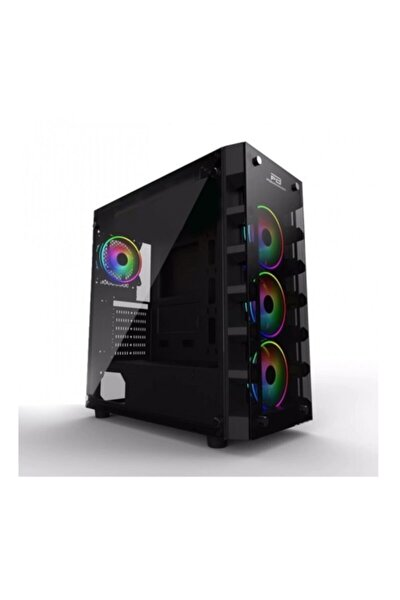 Powerboost Mid Tower Powersiz Gaming X-59 Atx Pc Kasası Temperli Cam Siyah