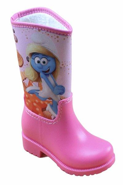285 Pembe Kız Çocuk Yağmur Kar Çizmesi