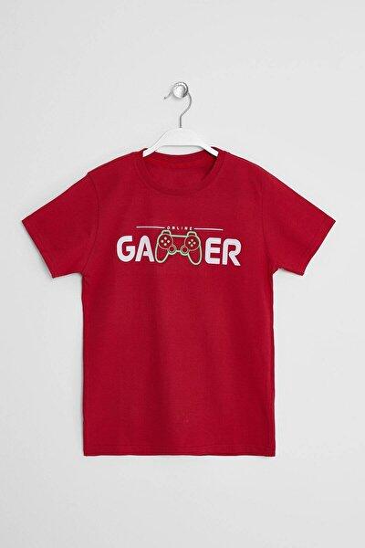 Erkek Çocuk T-shirt Gamer Baskılı 8-15 Yaş