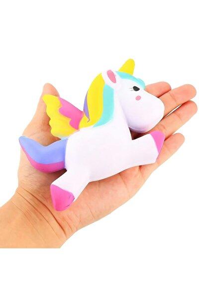 Jumbo Unicorn Boynuzlu At Squishy 13 Cm - Sık Bırak Sukuşi
