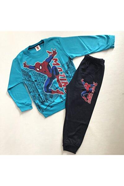 Erkek Çocuk Mavi Örümcek Adam Baskılı  Pijama Takımı