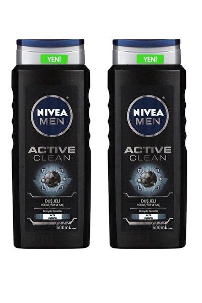Duş Jeli Erkek Active Clean 500 ml X 2 Adet