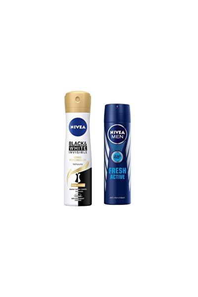 B&w Invisible Sprey Deodorant 150 Ml + Deodorant Fresh Active Erkek 150ml Men