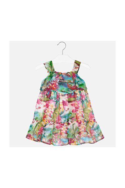 Kız Çocuk Şifon Volanli Elbise 20y3955
