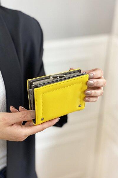 Kadın Sarı Küçük Burslu Cüzdan Trcüzdan200074 Cr014