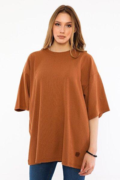 Kadın Oversize T-shirt (un-7040)