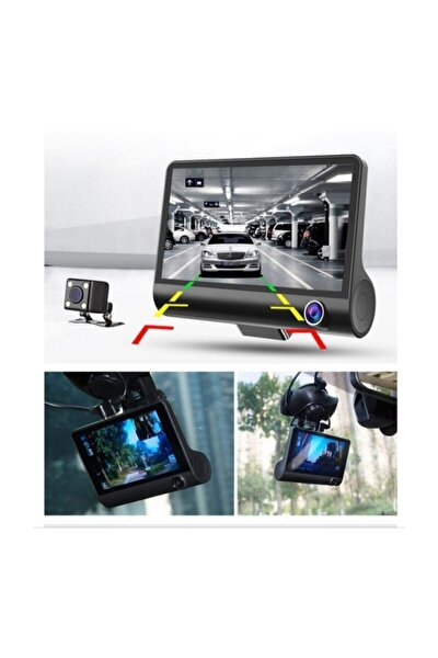 1080p Yol Kayıt 3 Kameralı {yol+araç Içi+geri Vites Gece Görüşlü}
