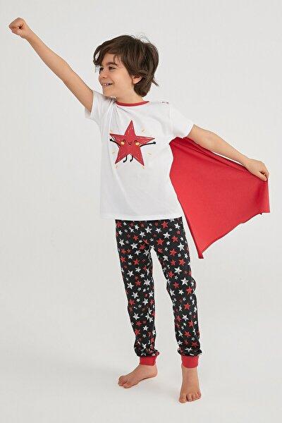 Erkek Çocuk Çok Renkli Boys Stars Ss Pijama Takımı 2li
