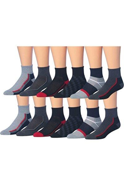 Erkek Karışık Renkli 12'li Soket Çorap