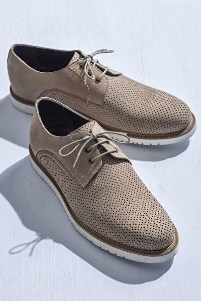 BERTOLD Hakiki Deri Vizon Erkek Oxford Ayakkabı