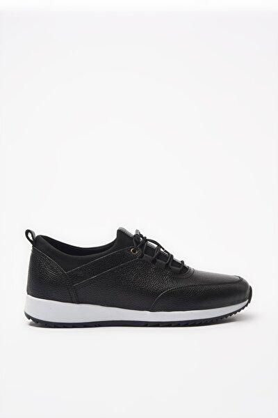 Hakiki Deri Siyah Erkek Sneaker 02AYH195860A100
