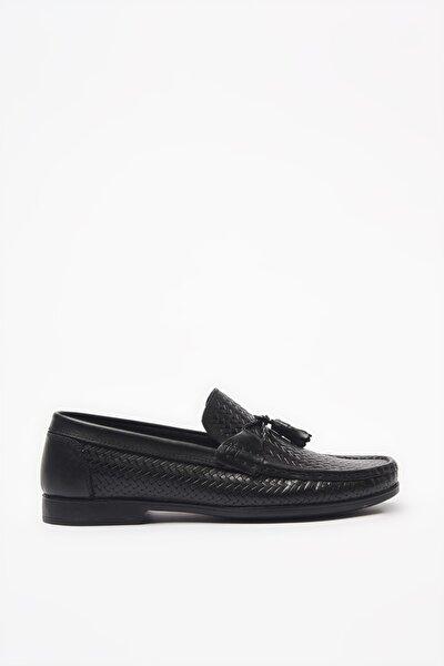 Hakiki Deri Siyah Loafer Ayakkabı 02AYH206160A100