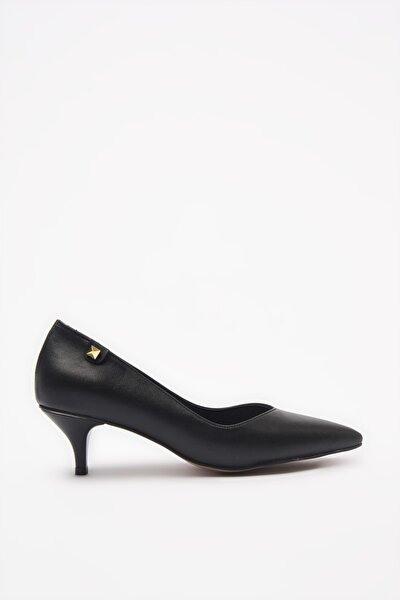 Siyah Kadın Klasik Topuklu Ayakkabı 01AYY205540A100