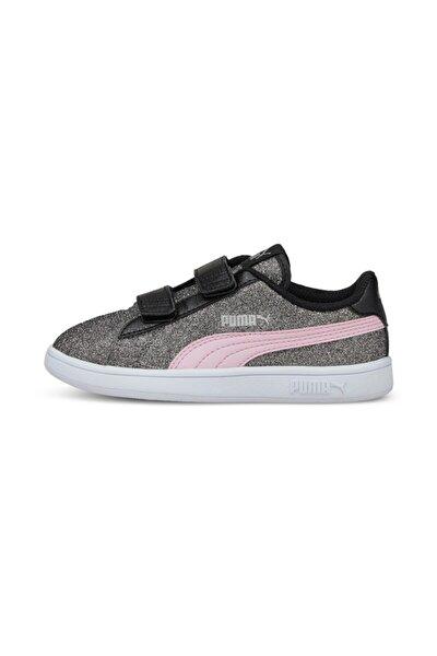 SMASH V2 GLITZ GLAM Siyah Kız Çocuk Sneaker Ayakkabı 101085094