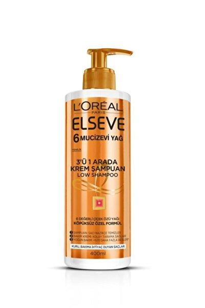 Mucizevi Yağ 3'ü 1 Arada Low Shampoo Krem Şampuan