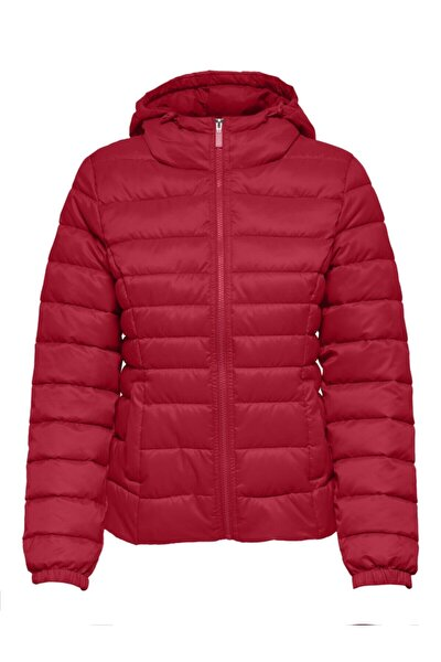 Kadın Kırmızı Kapüşonlu Ince Şişme Mont 15205758 Onlnewtahoe