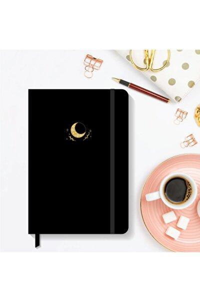 Notebook Lastikli Sert Kapak Noktalı Defter 13x21 Cm Hardcover Notebook Black