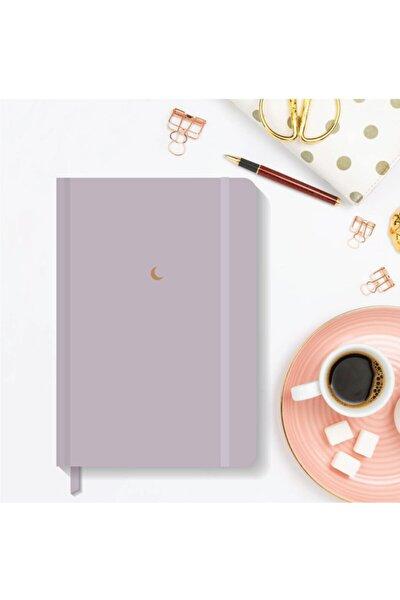 Notebook Lastikli Düz Çizgisiz Sert Kapak Defter 13x21 Cm Hardcover Notebook Purple