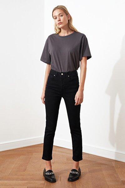 Siyah Yüksek Bel Slim Fit Jeans TWOSS21JE0020