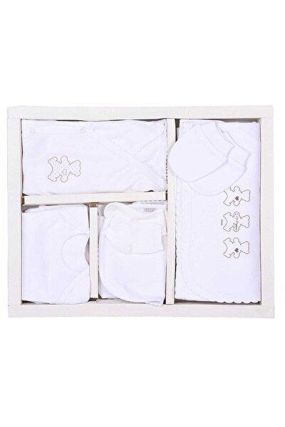 Kiti Kate Organik Pamuk 10'lu Zıbın Set Beyaz