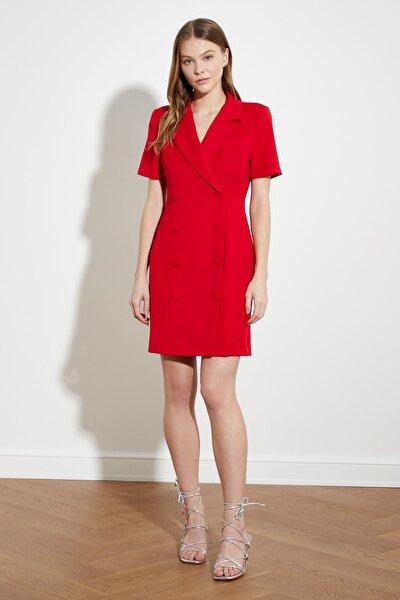 Kırmızı Ceket Elbise TWOSS21EL0323