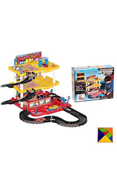 3 Katlı Garaj Oyun Seti - Garaj Oyun Seti -3 Katlı Garaj Ve Araba