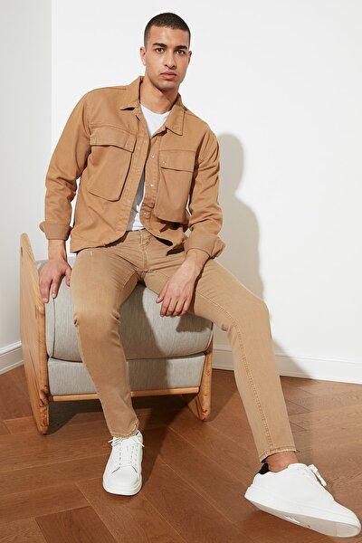 Camel Erkek Crashlı Skinny Jeans TMNSS20JE0238