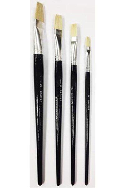 4'lü Yağlı Ve Akrilik Boya Fırça Seti 6-8-10-12 Numaralı