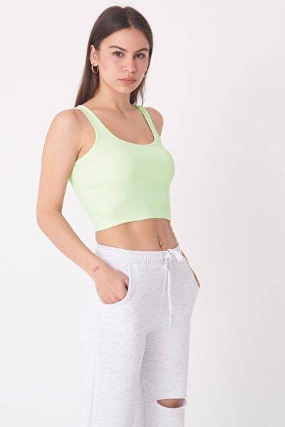 Kadın Su Yeşili Fitilli Atlet A0938 - T7 Adx-0000022287