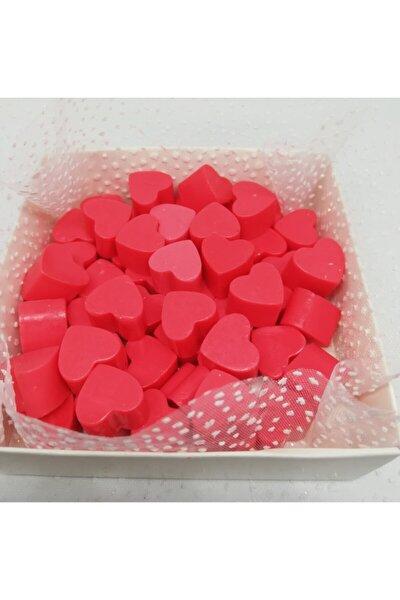 Sabun - Kokulu Süs Sabunu - Kalp 55 Adet Kırmızı-1cm
