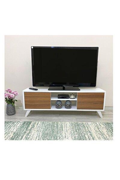 Irmak Tv Sehpası & Tv Ünitesi Ceviz Kapaklı Mini Televizyon Sehpası