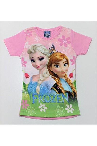 Kız Çocuk Prensesli Dijital Baskılı Tişört Verona Tarz
